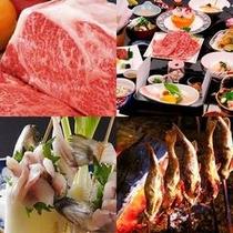 牛&岩魚3種食べ比べ