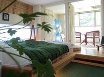 「早蕨」 清涼感あふれる緑を基調としたお部屋