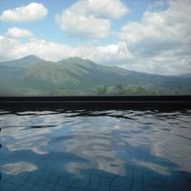 大浴場から阿蘇五岳の絶景