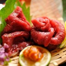 会津名物桜刺し付きプラン♪辛子味噌でお召し上がりください!