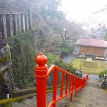 温泉神社社殿まで2