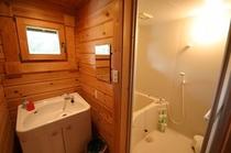 ログ洗面と風呂