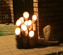 神竹灯・各宿にて年末年始点灯