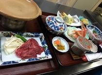 陶板焼きプランの夕食