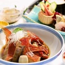 金目鯛煮付刺身定食