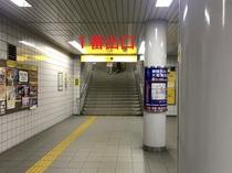 3.1番出口の階段をのぼります。