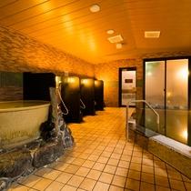 ◆夜通し入れる男女別天然温泉◆女性大浴場