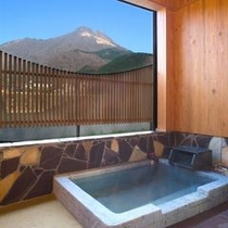 部屋付きの半露天風呂