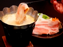安曇野無菌豚の豆乳鍋