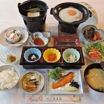 【ご朝食一例】手作りの和朝食。しっかり食べて、元気に出発して下さいね★