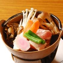 *【夕食一例】きのこ鍋うどん