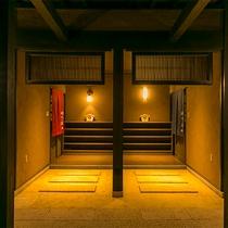 宿泊者専用浴室棟入り口