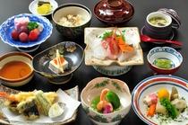 天ぷら付膳一例