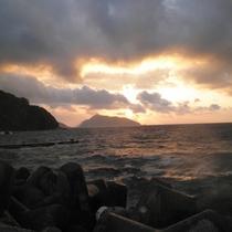 *【当館からの眺め】鹿島の荒天。海は色々な表情を見せてくれます。