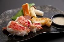 タラバ蟹と帆立の海鮮焼き