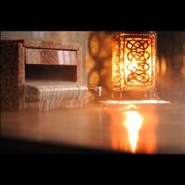 (客室露天:石造りのお風呂)【銘木の間】