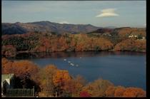 一碧湖の紅葉