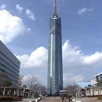 福岡タワー 福岡市を一望できます!夜景がとてもきれい♪