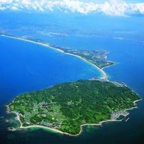 空からの志賀島 金印とロマンの島、志賀島へようこそ!