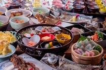 志賀海スタイルバイキング!お好みのお食事をとって、自分好みのプチ会席を。