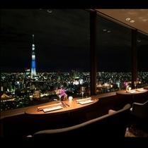 27F THE DINING シノワ唐紅花 & 鉄板フレンチ 蒔絵(まきえ) ペアシート