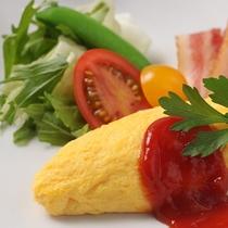 ■ご朝食・出来立てのオムレツをご提供!