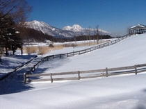 冬の飯綱東高原