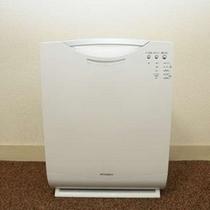 全部屋に空気清浄機が設置されてますので、ご自由にご使用ください。