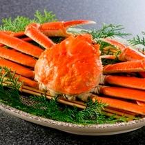 かに酢で食す♪茹で蟹一匹