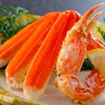 かに酢でいただく、茹で蟹半匹