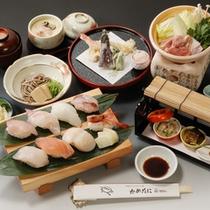 【通年】八種の新鮮なネタのお寿司と会席料理プラン