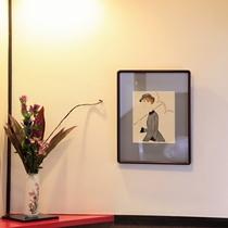 ■【館内】大正ロマンで有名な「竹久夢二」の作品を展示しております。
