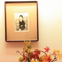 ■【館内】大正ロマンで有名な「竹久夢二」の作品も展示しています。