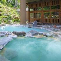 ■八右衛門の湯【露天風呂】2種類の温度の違う露天風呂をお楽しみください。