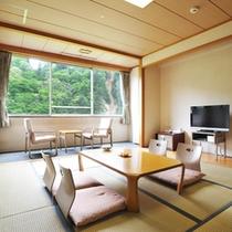 *【なとり館客室】窓からは美しい風景をお楽しみ頂けます。