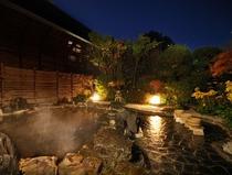 露天風呂 夜の風景