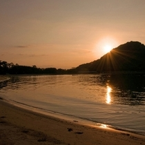 日本の夕陽百選に選ばれた萩の夕日は圧巻です♪