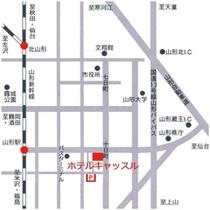 ホテルキャッスル周辺地図