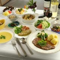 夕食の一例-ステーキ