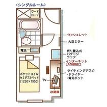 シングルルーム(平面図)