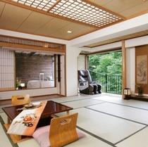 露天風呂付客室せせらぎの間(マッサージ機付)他のお部屋と少し離れているの静なお部屋です≪一階≫