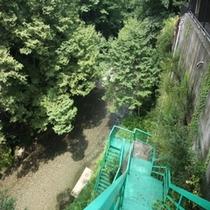 夏は是非この階段を降りて川のそばまで行ってみて下さい!但し!上りはきついです