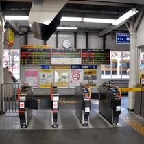 1.JR鳥栖駅の改札口は1つです