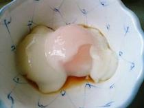 自家製の温泉卵