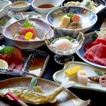 【夕食一例】大阪ならではの料理と大阪の市場で厳選された旬の素材を使った会席料理を堪能!