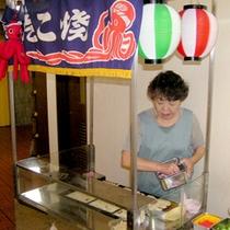 団体・グループの宴会時にはたこやき屋台が登場!大阪の雰囲気を楽しんで下さいね♪