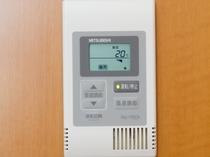 【空調】全室個別の空調システムで、お客様に合わせた室内温度に調整して頂けます。