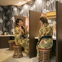 【女性大浴場:化粧台】