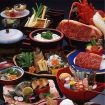 【夕食:ゐきり特選会席】メインの鉄板焼はイセエビor讃岐牛から選べる全11品の会席
