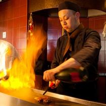 牛ステーキ(オープンキッチン)